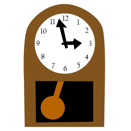 振り子時計の無料イラスト : 素材 時計 : すべての講義