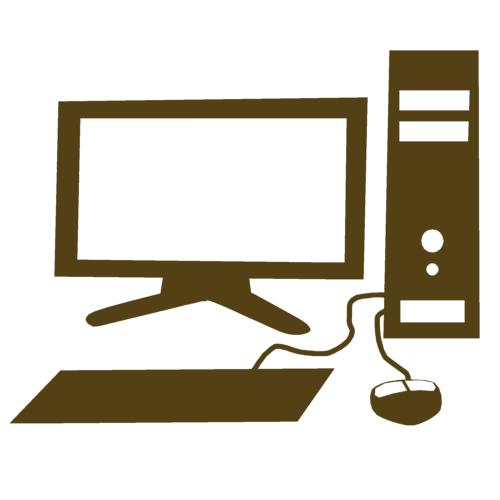 パソコンの無料イラスト パソコンのイラスト パソコンのシルエット。アイコンなどにご利用下さい。.